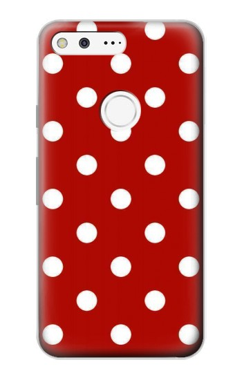 Printed Red Polka Dots Google Pixel Case
