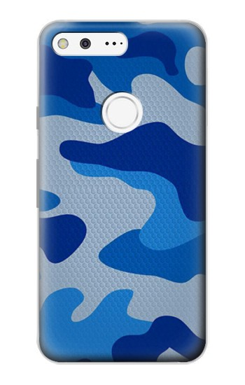 Printed Army Blue Camouflage Google Pixel Case