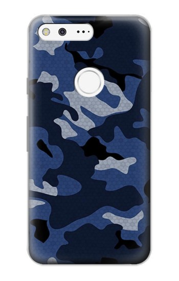 Printed Navy Blue Camouflage Google Pixel Case
