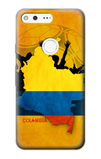 Printed Colombia Football Flag Google Pixel Case