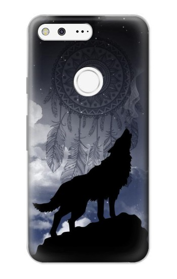 Printed Dream Catcher Wolf Howling Google Pixel Case