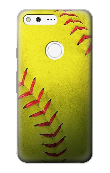 Printed Yellow Softball Ball Google Pixel Case