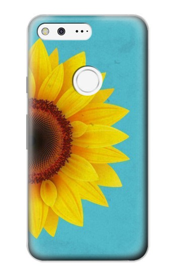Printed Vintage Sunflower Blue Google Pixel Case