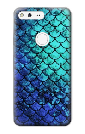 Printed Green Mermaid Fish Scale Google Pixel Case