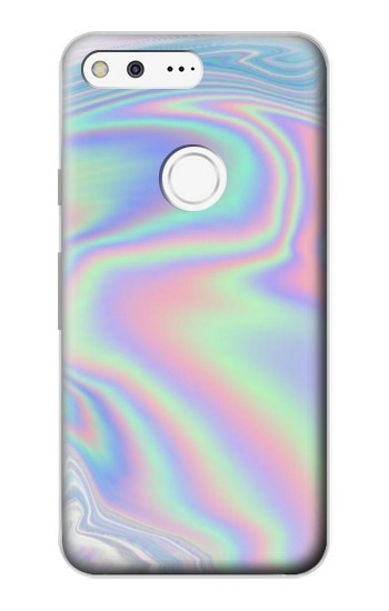 Printed Pastel Holographic Photo Printed Google Pixel Case