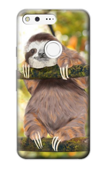 Printed Cute Baby Sloth Paint Google Pixel Case