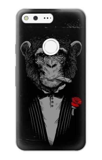 Printed Funny Monkey God Father Google Pixel Case