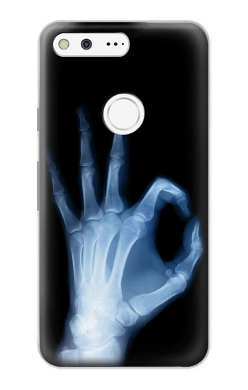 Printed X-Ray Hand Sign OK Google Pixel Case
