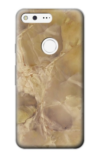 Printed Yellow Marble Stone Google Pixel Case