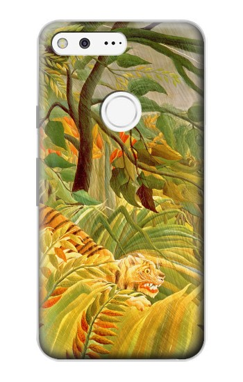 Printed Henri Rousseau Tiger in a Tropical Storm Google Pixel Case