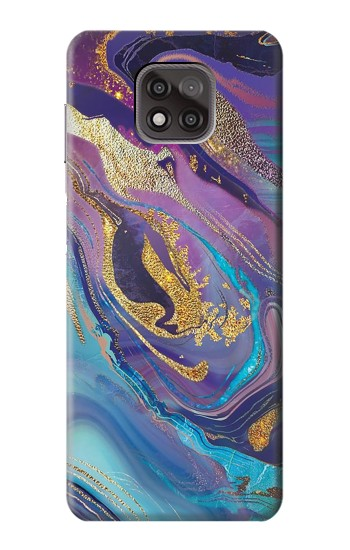 Printed Colorful Abstract Marble Stone Motorola Moto G Power (2021) Case