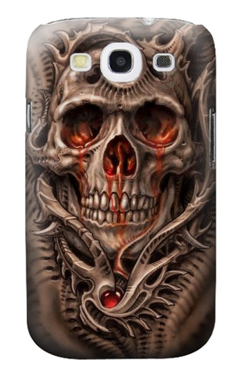 Printed Skull Blood Tattoo Samsung Galaxy S3 Case