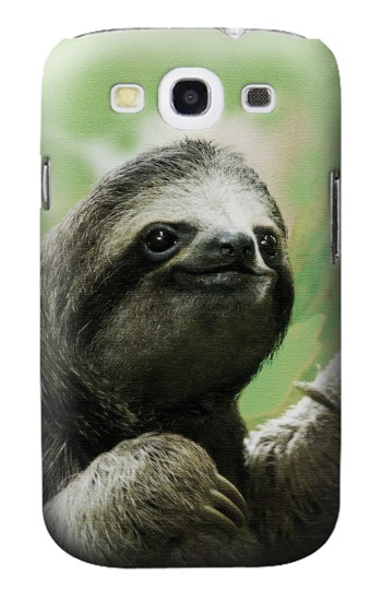 Printed Smiling Sloth Samsung Galaxy S3 Case