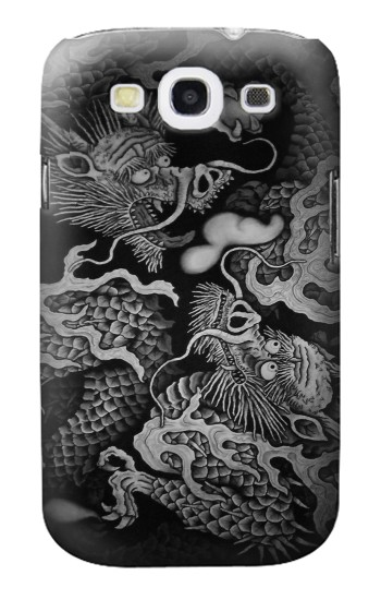 Printed Japan Painting Twin Dragons Samsung Galaxy S3 Case
