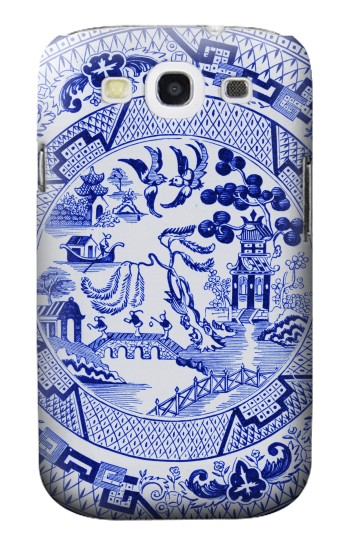 Printed Willow Pattern Illustration Samsung Galaxy S3 Case