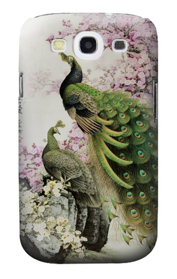 Printed Peacock Chinese Brush Painting Samsung Galaxy S3 Case