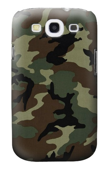 Printed Army Green Woodland Camo Samsung Galaxy S3 Case