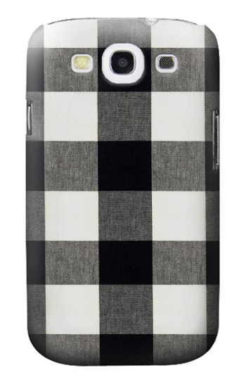 Printed Black and White Buffalo Check Pattern Samsung Galaxy S3 Case