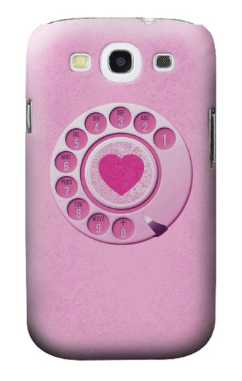 Printed Pink Retro Rotary Phone Samsung Galaxy S3 Case