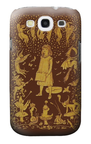 Printed Brown Fairy Book Cover Samsung Galaxy S3 Case