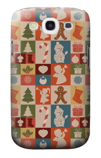 Printed Cute Xmas Pattern Samsung Galaxy S3 Case
