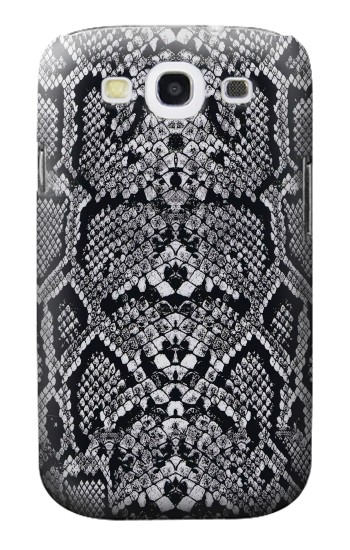 Printed White Rattle Snake Skin Samsung Galaxy S3 Case