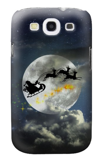 Printed Xmas Santa Night Sky Cloudy Moon Samsung Galaxy S3 Case