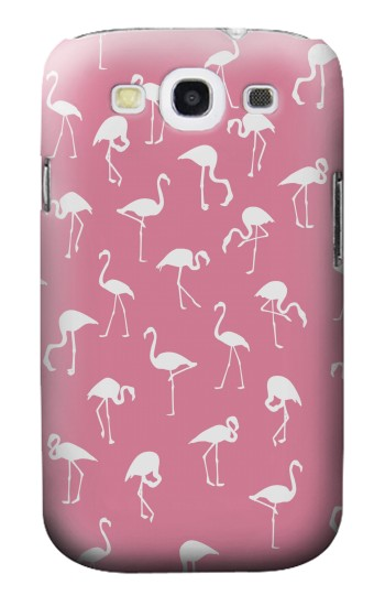 Printed Pink Flamingo Pattern Samsung Galaxy S3 Case