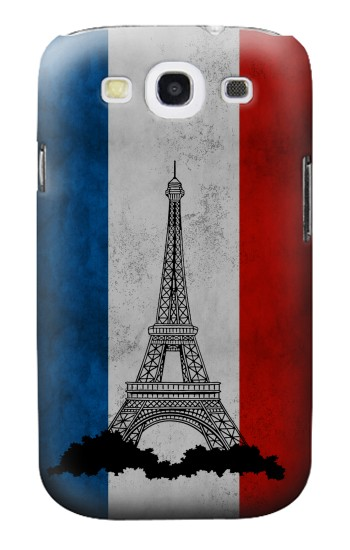 Printed Vintage France Flag Eiffel Tower Samsung Galaxy S3 Case
