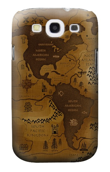 Printed Antique Style Map Samsung Galaxy S3 Case