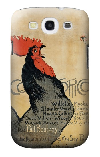 Printed Cocorico Rooster Vintage French Poster Samsung Galaxy S3 Case