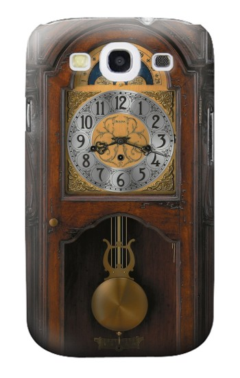 Printed Grandfather Clock Antique Wall Clock Samsung Galaxy S3 Case