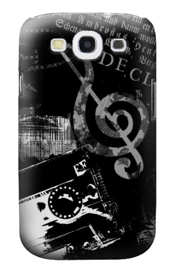 Printed Music Cassette Note Samsung Galaxy S3 Case