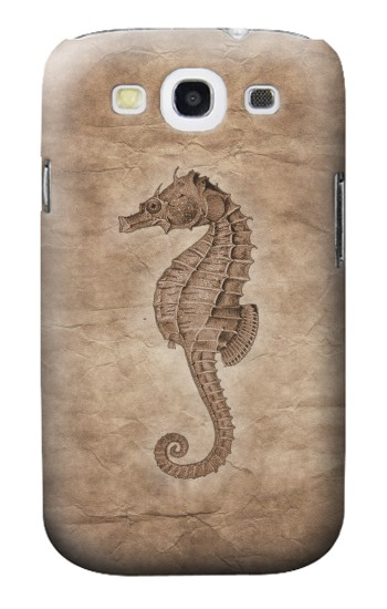Printed Seahorse Old Paper Samsung Galaxy S3 Case