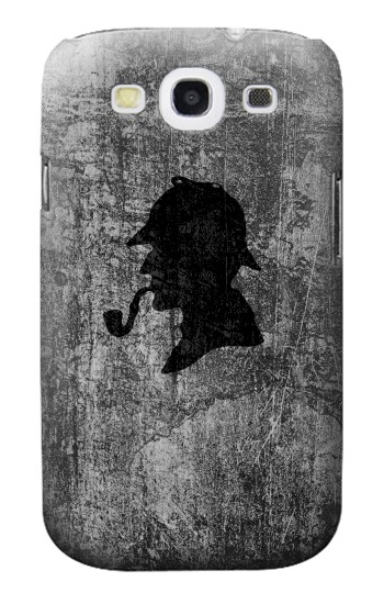 Printed Sherlock Holmes Silhouette Samsung Galaxy S3 Case