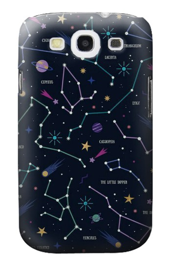 Printed Star Map Zodiac Constellations Samsung Galaxy S3 Case