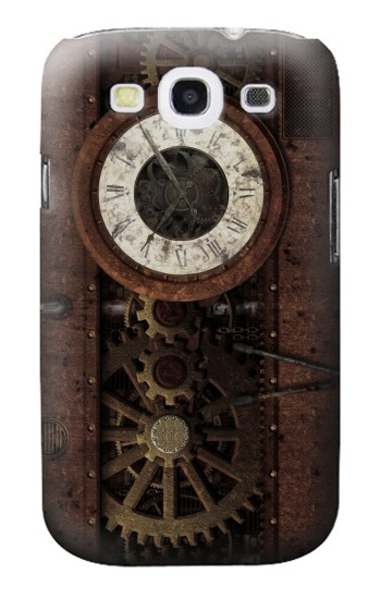 Printed Steampunk Clock Gears Samsung Galaxy S3 Case