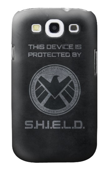 Printed This Device is Protected by Shield Samsung Galaxy S3 Case