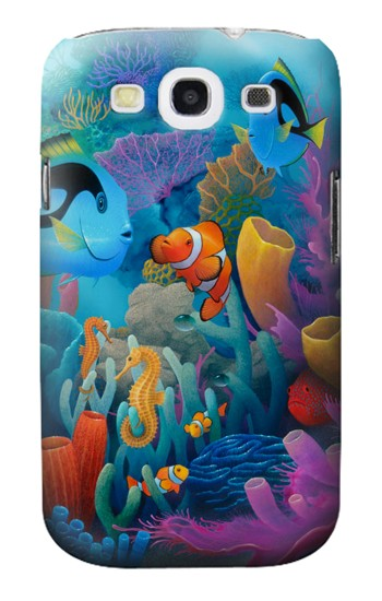 Printed Underwater World Cartoon Samsung Galaxy S3 Case