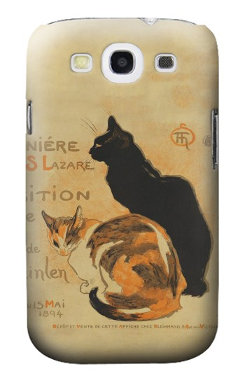Printed Vintage Cat Poster Samsung Galaxy S3 Case