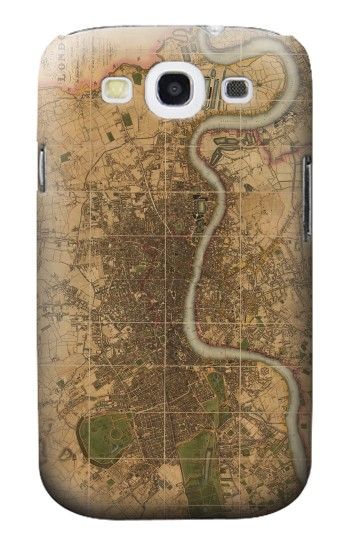 Printed Vintage Map of London Samsung Galaxy S3 Case