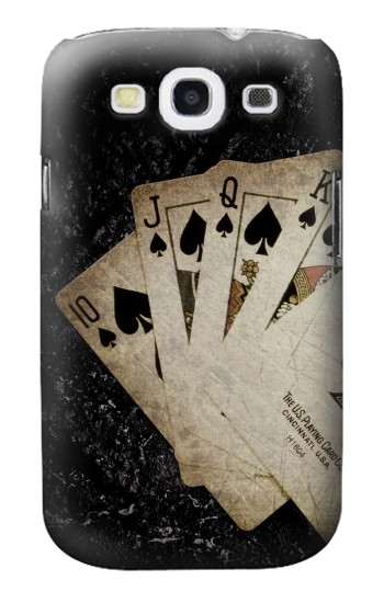Printed Vintage Royal Straight Flush Cards Samsung Galaxy S3 Case