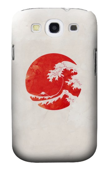 Printed Waves Japan Flag Samsung Galaxy S3 Case