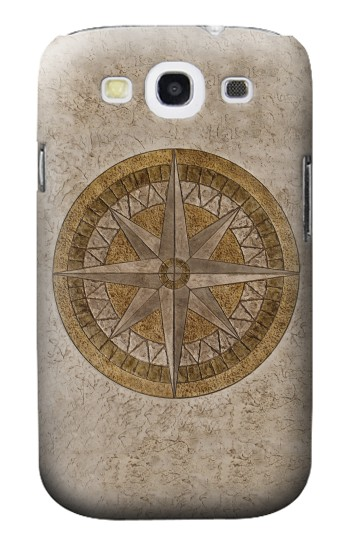 Printed Windrose Circle Stamp Samsung Galaxy S3 Case