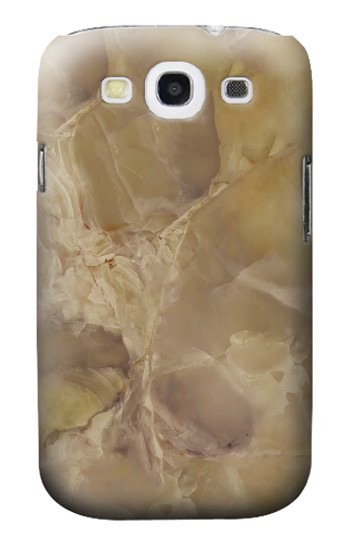 Printed Yellow Marble Stone Samsung Galaxy S3 Case