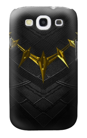 Printed Black Panther Inspired Costume Gold Necklace Samsung Galaxy S3 Case