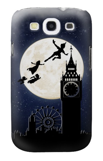Printed Peter Pan Fly Fullmoon Night Samsung Galaxy S3 Case