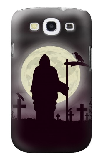 Printed Night Moon Cemetery Samsung Galaxy S3 Case