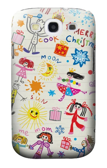Printed Kids Drawing Samsung Galaxy S3 Case