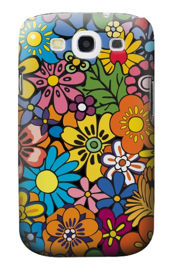 Printed Colorful Flowers Pattern Samsung Galaxy S3 Case